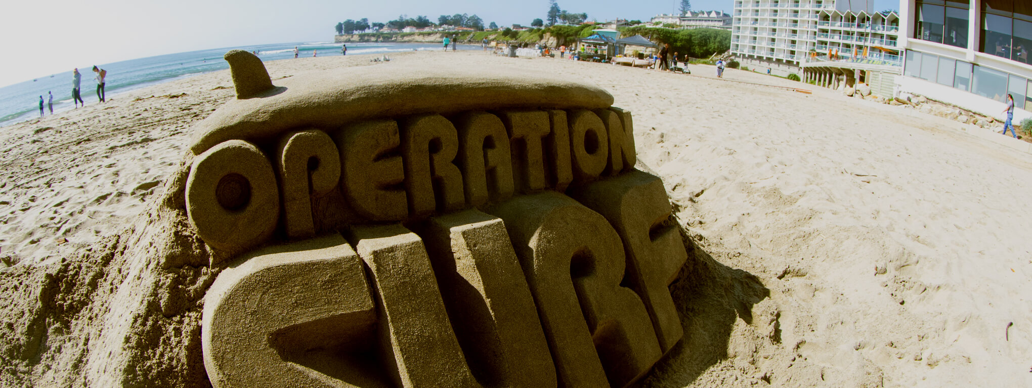 Operation Surf sand sculpture
