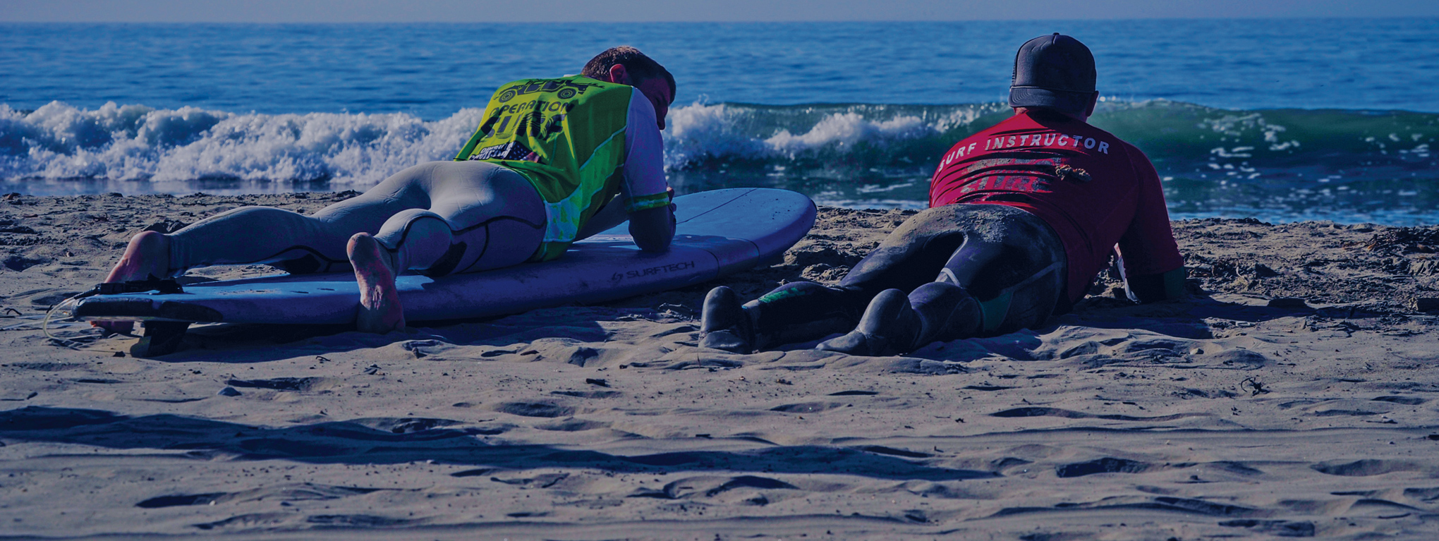 Two Operation Surf participants contemplate their achievements