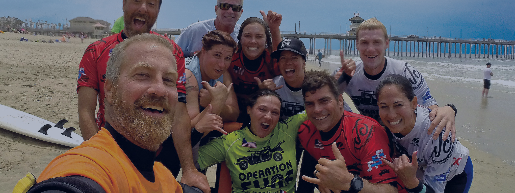 Operation Surf participants celebrate together