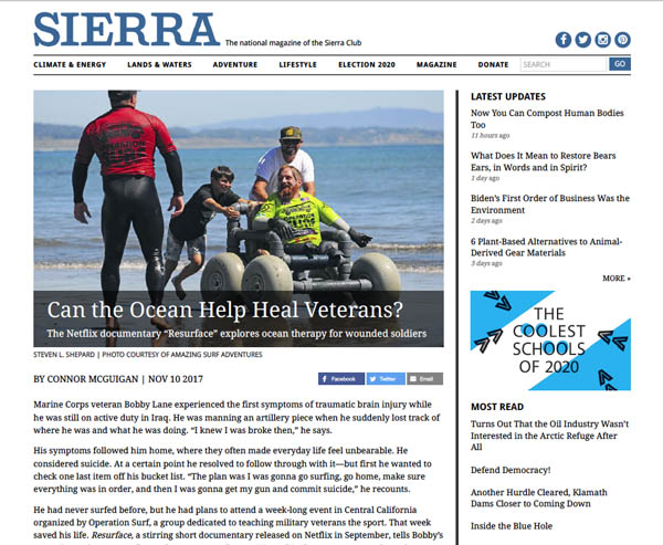 Sierra Club article screenshot